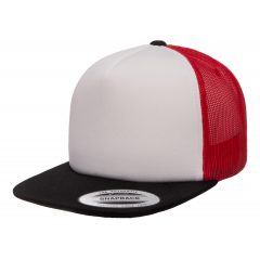 Кепка FlexFit 6005FW Trucker Black/White/Red