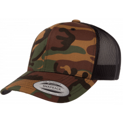 Кепка FlexFit 6606CA Retro Trucker - Green Camo
